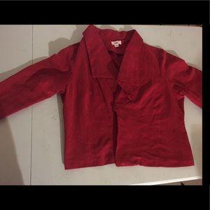 Cato red suede blazer jacket 18/20W